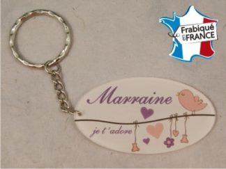 Porte clef marraine rose - Cadeau bapteme