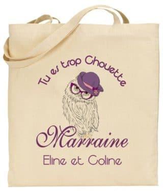 Tote Bag Marraine - Cadeau Bapteme anniversaire