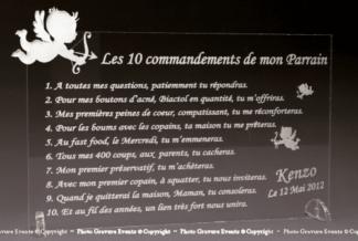10 commandements ANGE parrain