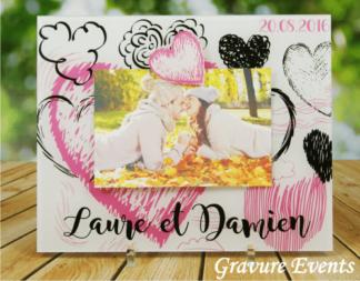 cadre photo cadeau pour les mari s. Black Bedroom Furniture Sets. Home Design Ideas