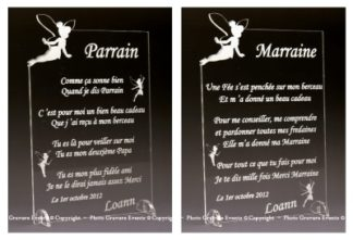 Poeme Parrain Marraine - décoration theme Fee clochette