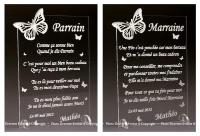 Poème Parrain Marraine Mod Papillon