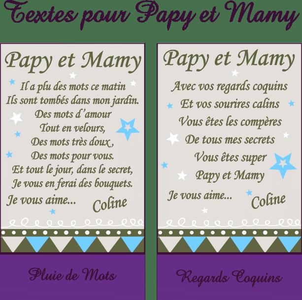 Cadre Photo Poème Mamy Papy Mod R