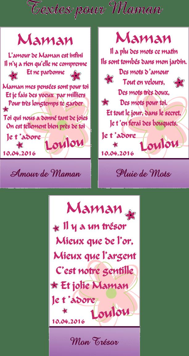 Cadre Photo Poème Maman Mod P