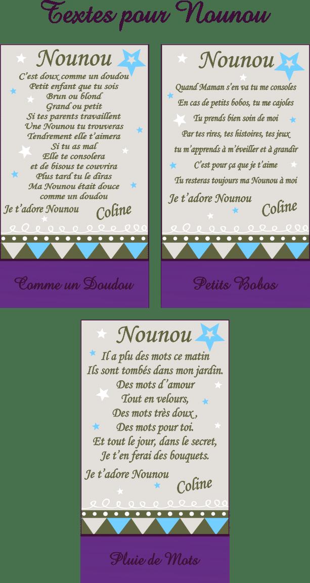 Cadre Photo Poème Nounou Mod R