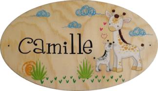 Plaque de porte chambre enfant bebe personnalise prenom lettre bois decoration