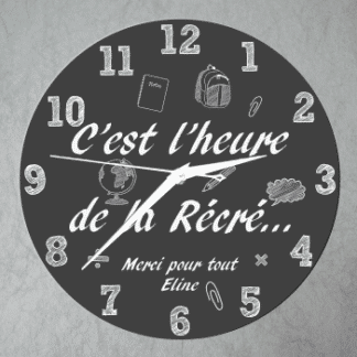 Horloge maitre maitresse